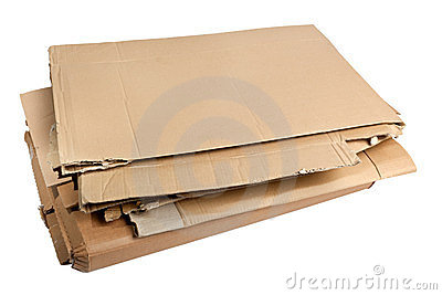 Pile of corrugated cardboard