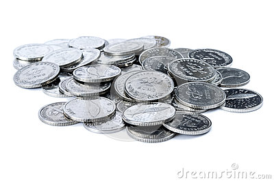 Pile of Croatian coins