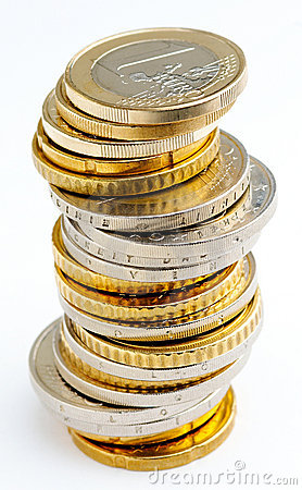 Pile d euro pièces de monnaie
