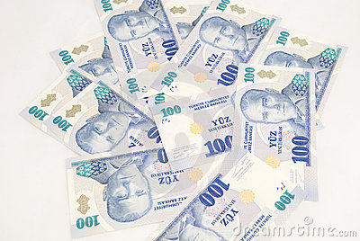 Pile de 100 factures de YTL