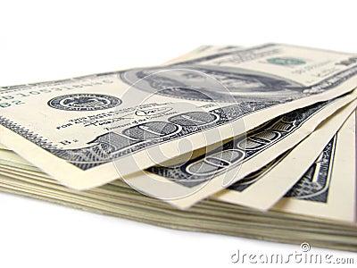 Pile de factures de $ 100