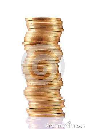 Pile de pièces de monnaie