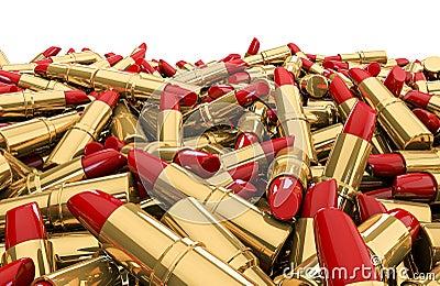 Pile de rouge à lèvres