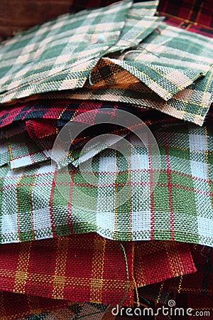Pile de tissu pour piquer