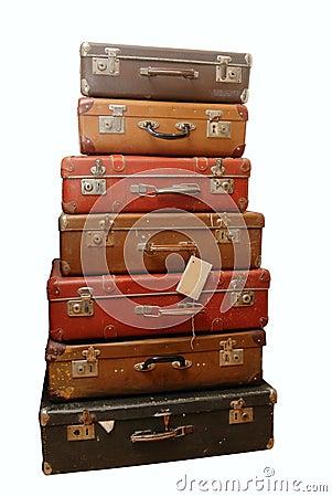pile de vieilles valises battues photo libre de droits image 18479295. Black Bedroom Furniture Sets. Home Design Ideas