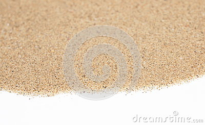 Pile desert sand isolated on white