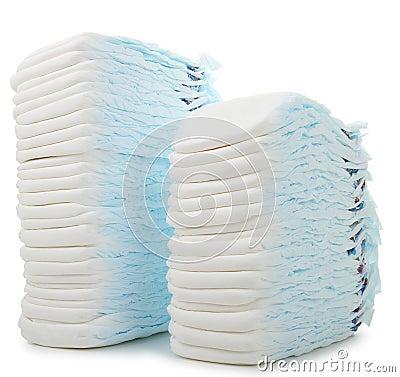 Pile of diaper