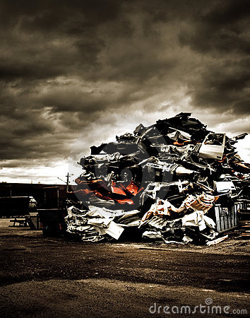 Pile of discarded cars