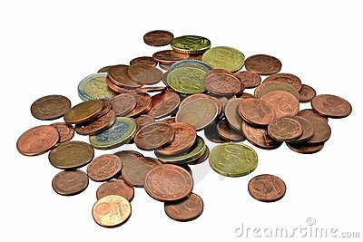 A pile of euro coins