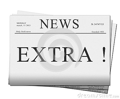 Extra issue of newspapers