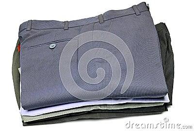 Pile of formal pants
