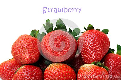 A pile of fresh strawberry