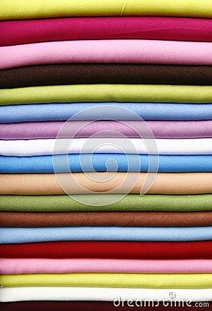 Pile of gentle folded shawls
