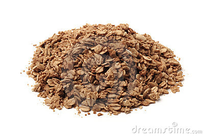 Pile of healthy granola