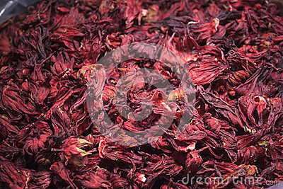 Pile of hibiscus flower