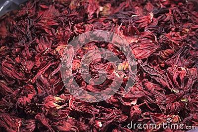 Pile of hibiscus flower