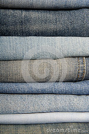 A pile of jeans