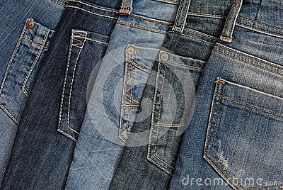 It is a pile of jeans.
