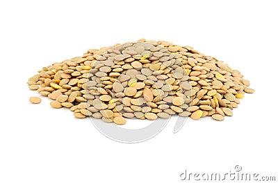 Pile of lentils