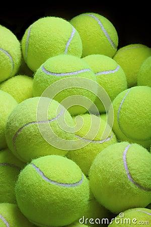 Pile Of Loose Tennis Balls Stock Image - Image: 36624431