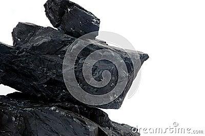 Pile lumps of coals