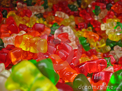 Pile of Many Gummy Bears Editorial Photography
