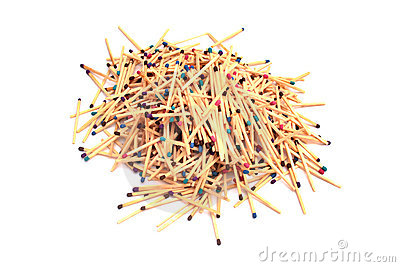 Pile of matches.