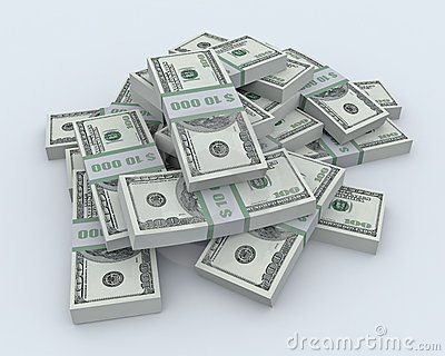 Pile of the money