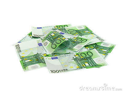 Pile of money hundred Euro