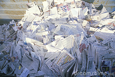 A pile of newspaper Editorial Image
