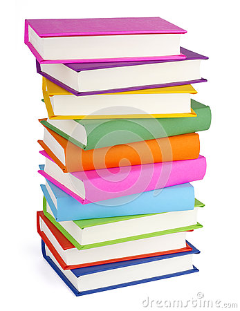 Free Pile Of Books Isolated On White Stock Image - 67207211