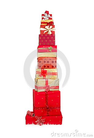 Free Pile Of Christmas Presents Royalty Free Stock Images - 61210299