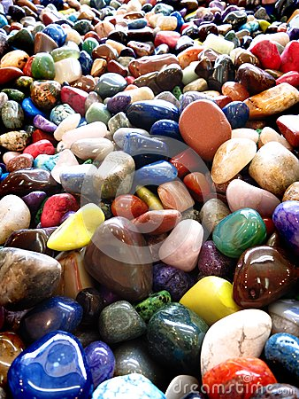 Free Pile Of Colorful Smooth Rocks Stock Image - 34146511