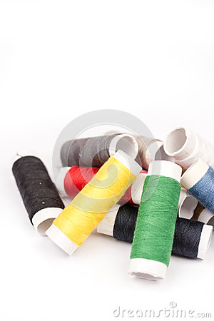 Free Pile Of Colorful Threads Over White Background Stock Image - 78658261