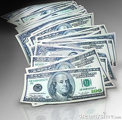 Free Pile Of Money Royalty Free Stock Photo - 5231915