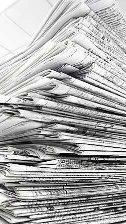 Free Pile Of Newspaper Stock Photos - 18409223