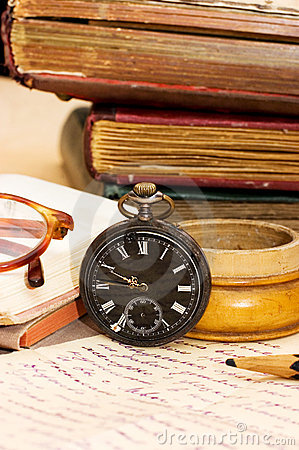 Free Pile Of Old Books And Different Things Stock Photo - 16465480