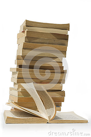 Free Pile Of Old Books Isolated Stock Images - 54322094