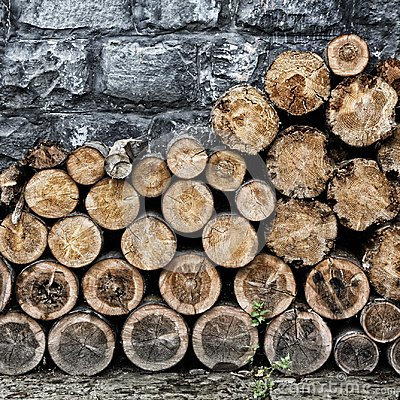 Free Pile Of Old Chopped Fire Wood Stock Photo - 103363610