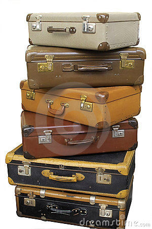 Free Pile Of Old Suitcases Royalty Free Stock Photo - 3219125