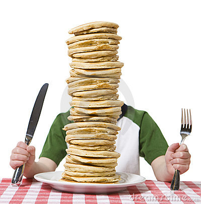 Free Pile Of Pancakes Royalty Free Stock Photo - 7867045