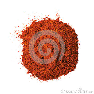 Free Pile Of Red Paprika Powder Isolated Royalty Free Stock Image - 68560036