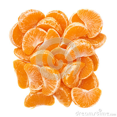 Free Pile Of Slice Sections Of Tangerine Isolated Over Royalty Free Stock Photography - 59169067