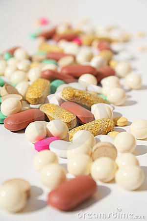 Free Pile Of Spilled Pills Royalty Free Stock Photography - 5856887