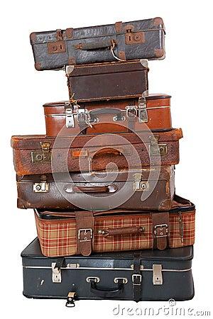 Free Pile Of Vintage Luggage Stock Photography - 17954562