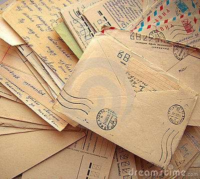 Pile of old letters Stock Photo