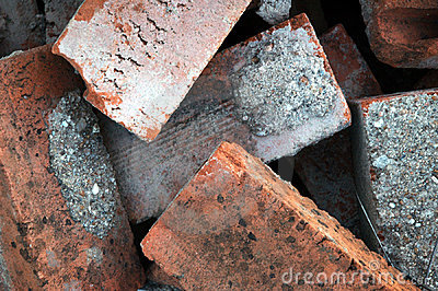 Pile of Old Red Bricks