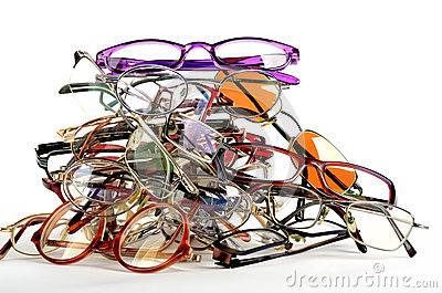 Pile of used spectacles