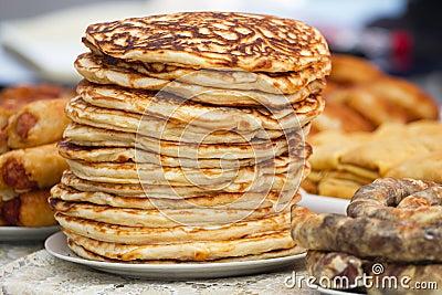 Pile  pancakes