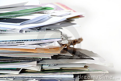 Pile of paper.
